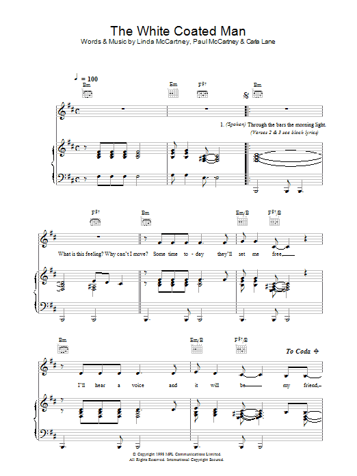 The White Coated Man Sheet Music