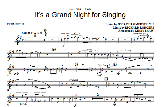 It's a Grand Night for Singing - Trumpet 2 Sheet Music