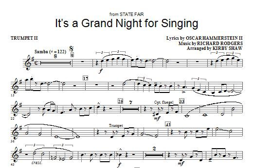 It's a Grand Night for Singing - Trumpet 2 (Choir Instrumental Pak)