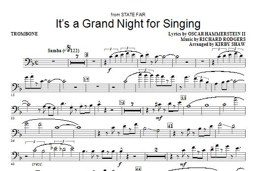 It's a Grand Night for Singing - Trombone Sheet Music