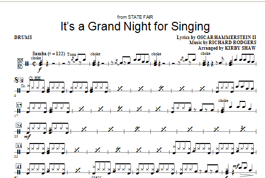 It's a Grand Night for Singing - Drums Sheet Music