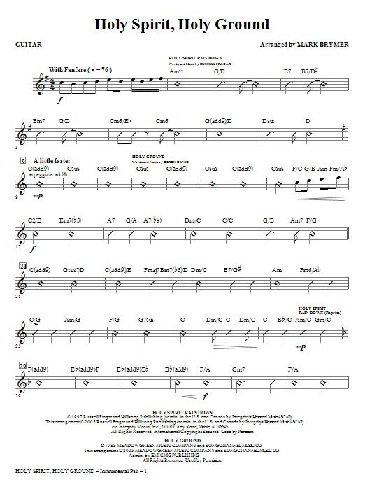 Holy Spirit, Holy Ground (Medley) - Guitar (Choir Instrumental Pak)