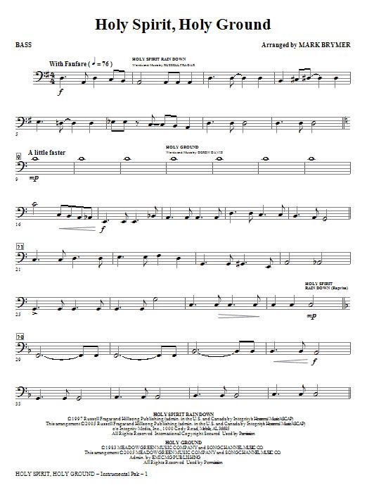 Holy Spirit, Holy Ground (Medley) - Bass Sheet Music