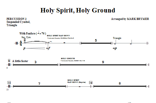 Holy Spirit, Holy Ground (Medley) - Percussion 3 Sheet Music