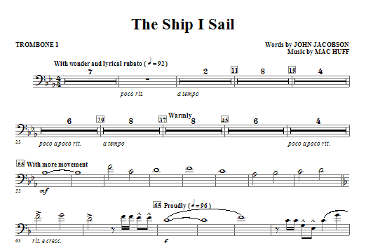 The Ship I Sail - Trombone 1 Sheet Music