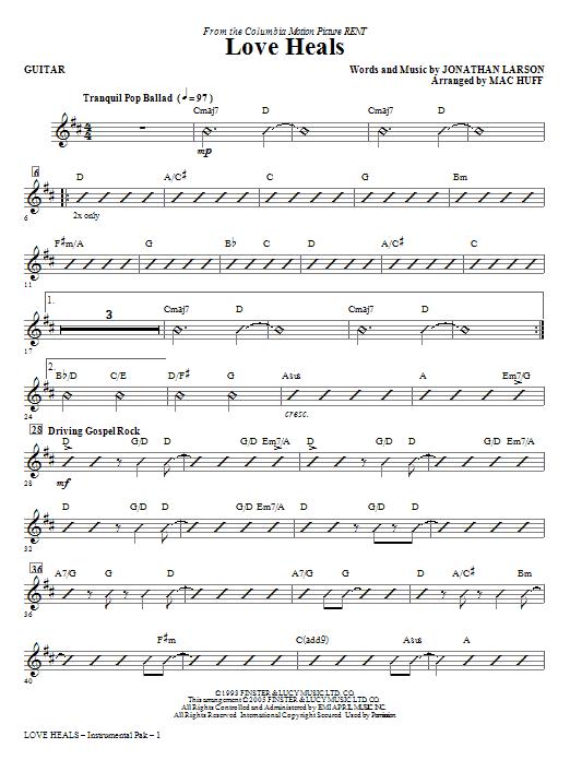 Love Heals - Guitar (Choir Instrumental Pak)