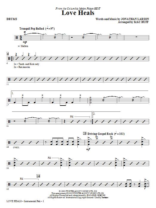 Love Heals - Drums Sheet Music