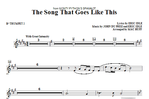 The Song That Goes like This - Bb Trumpet 2 Sheet Music
