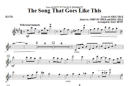 The Song That Goes like This - Flute Sheet Music