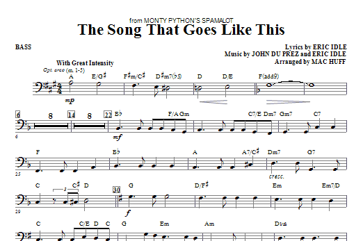 The Song That Goes like This - Bass Sheet Music