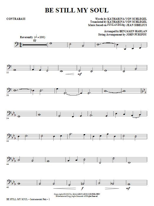 Be Still My Soul - Contrabass (Choir Instrumental Pak)