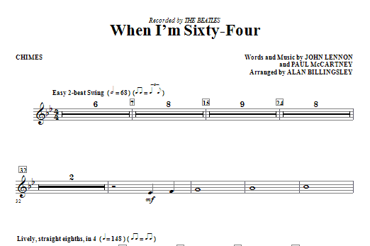 When I'm Sixty-Four - Chimes Sheet Music