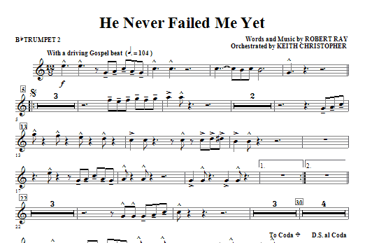 He Never Failed Me Yet - Bb Trumpet 2 Sheet Music