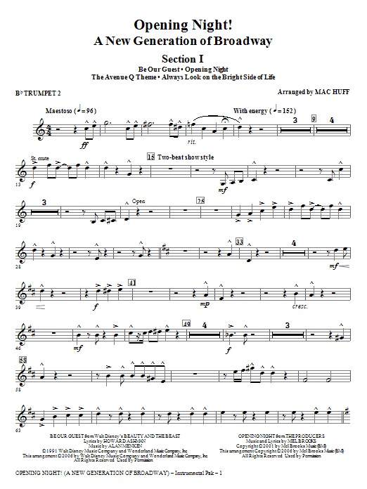Opening Night - Bb Trumpet 2 Sheet Music