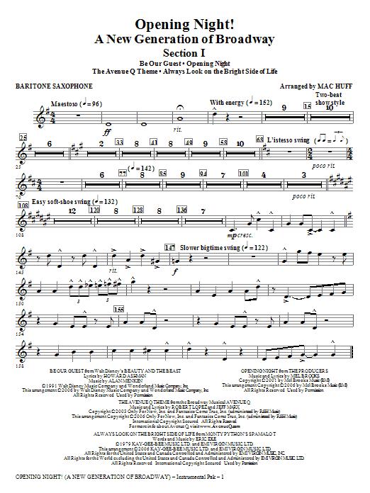 Opening Night - Baritone Sax Sheet Music