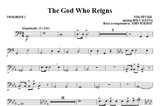 The God Who Reigns - Trombone 2 (Choir Instrumental Pak)