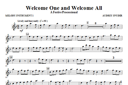 Welcome One And Welcome All - A Festive Processional - C Instrument I Sheet Music