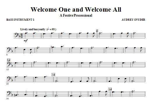 Welcome One And Welcome All - A Festive Processional - C Instrument III Sheet Music