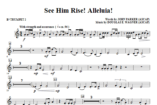 See Him Rise! Alleluia! - Bb Trumpet 2 Sheet Music
