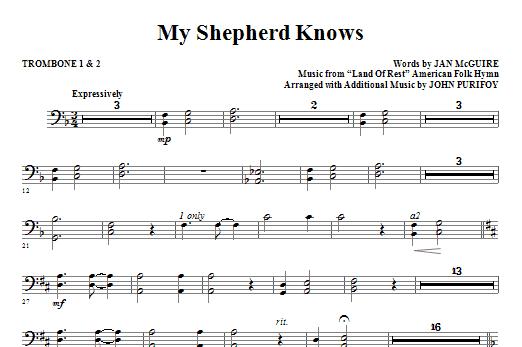 My Shepherd Knows - Trombone 1 & 2 Sheet Music