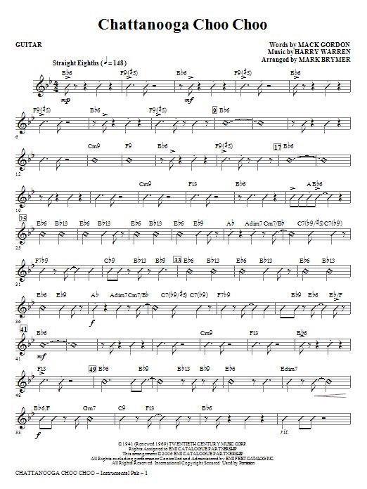 Chattanooga Choo Choo - Guitar Sheet Music