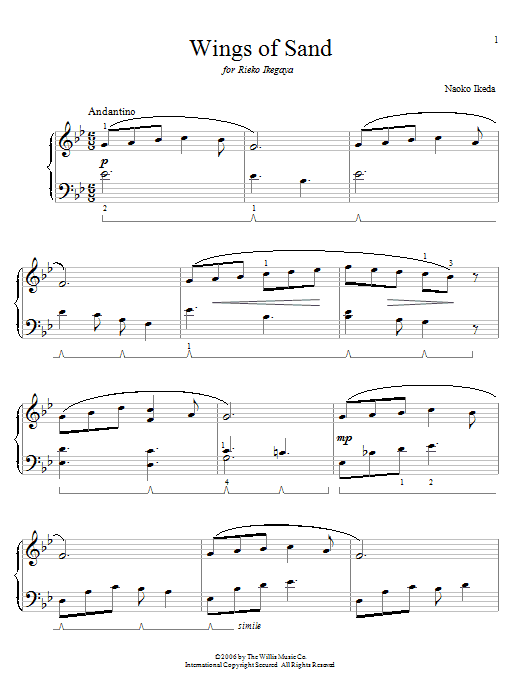 Wings Of Sand Sheet Music