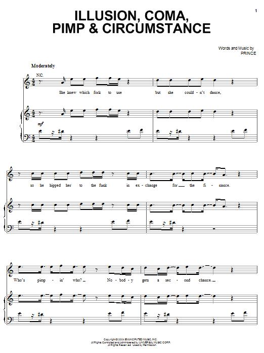 Illusion, Coma, Pimp & Circumstance Sheet Music