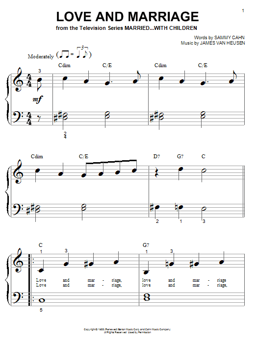 Love And Marriage Sheet Music