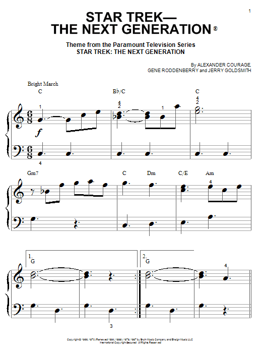 Star Trek - The Next Generation(R) Sheet Music