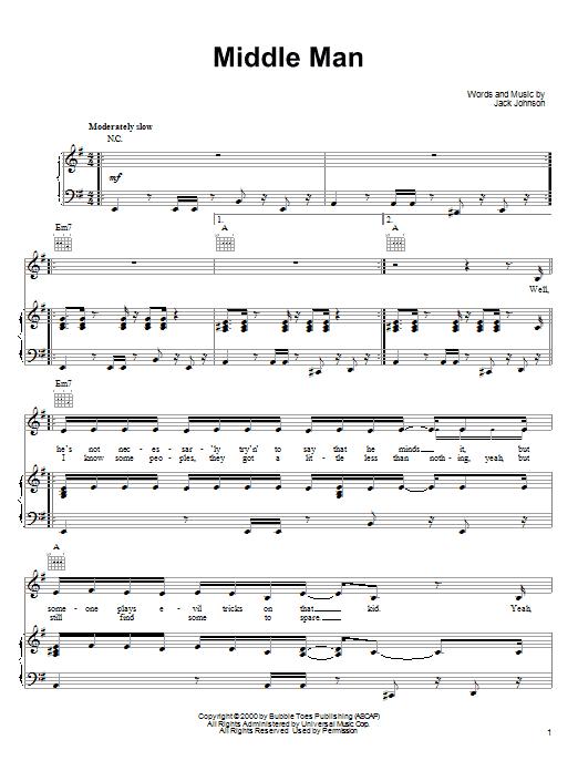 Middle Man Sheet Music