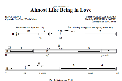 Almost Like Being in Love - Percussion 2