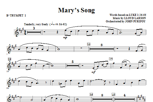 Mary's Song - Bb Trumpet 1 Sheet Music