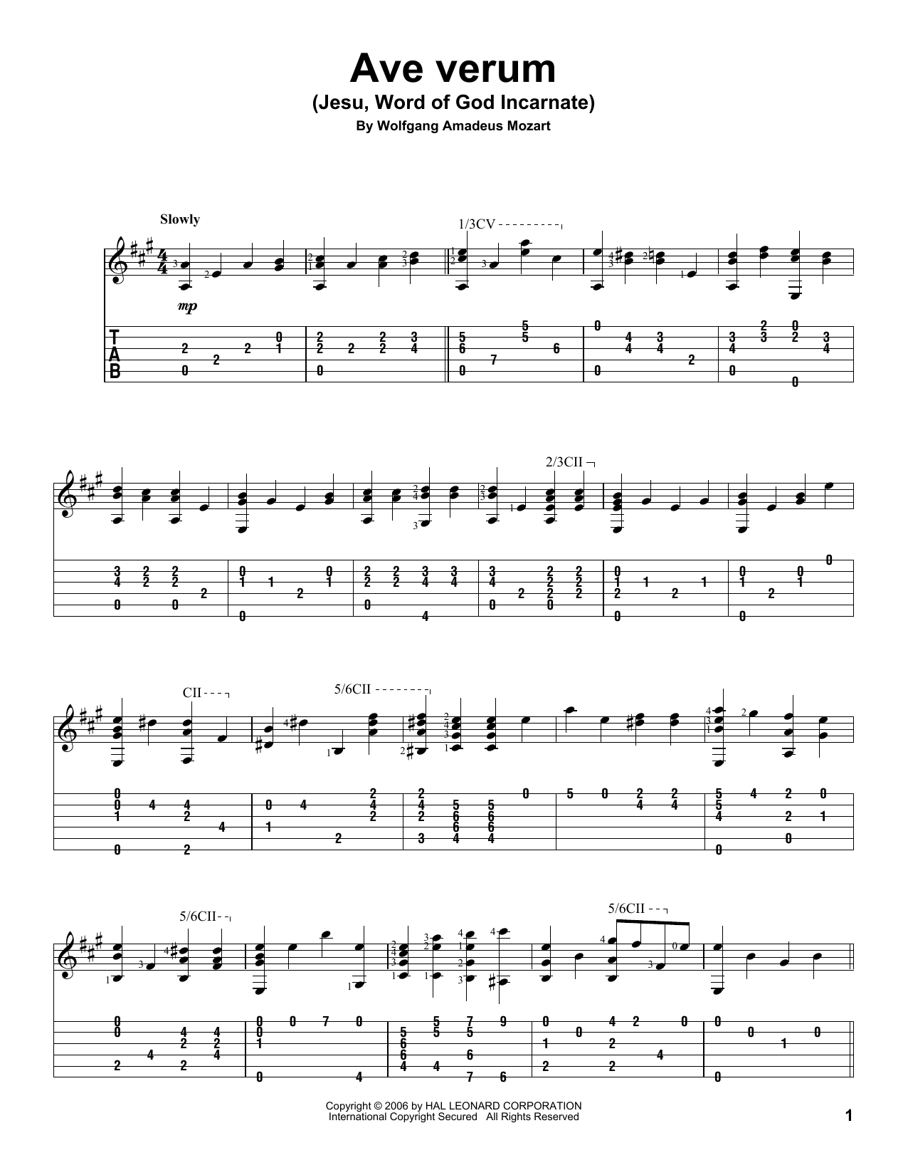 Ave Verum (Jesu, Word of God Incarnate) Sheet Music