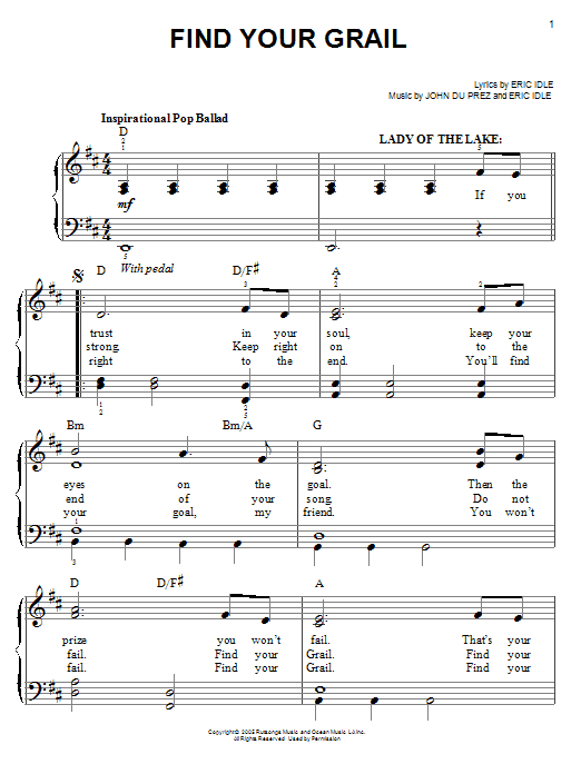 Find Your Grail Sheet Music