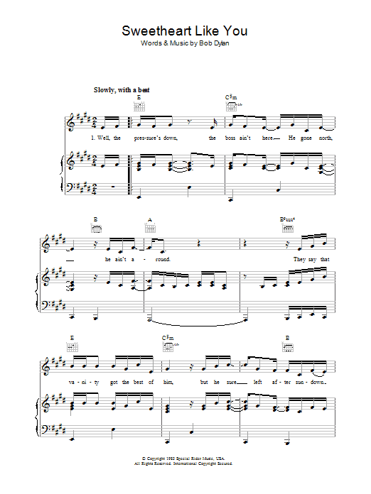 Sweetheart Like You Sheet Music