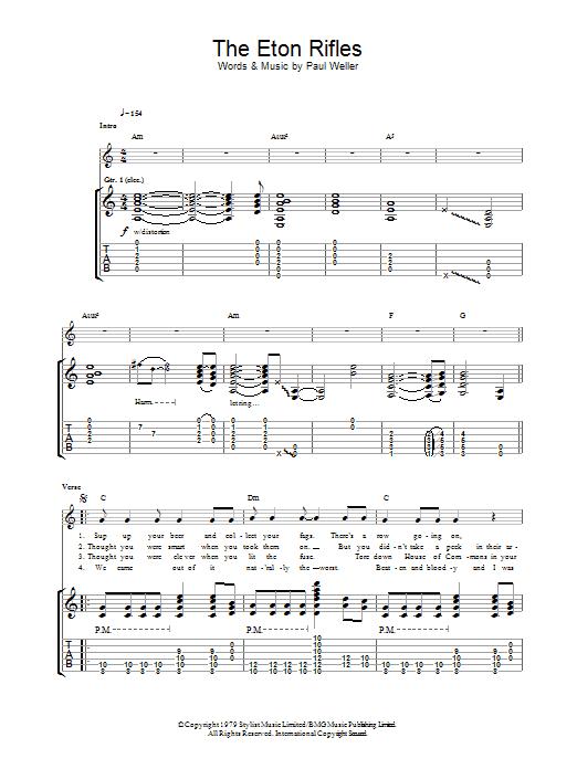 The Eton Rifles Sheet Music