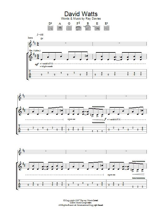 David Watts (Guitar Tab)