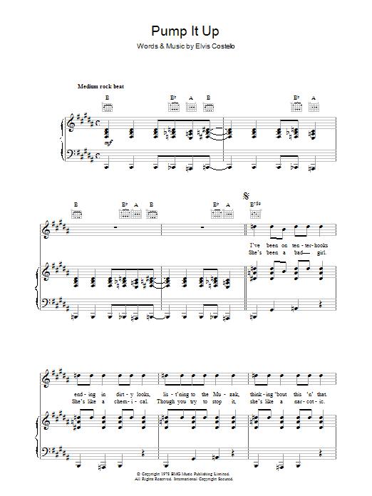 Pump It Up (Piano, Vocal & Guitar)