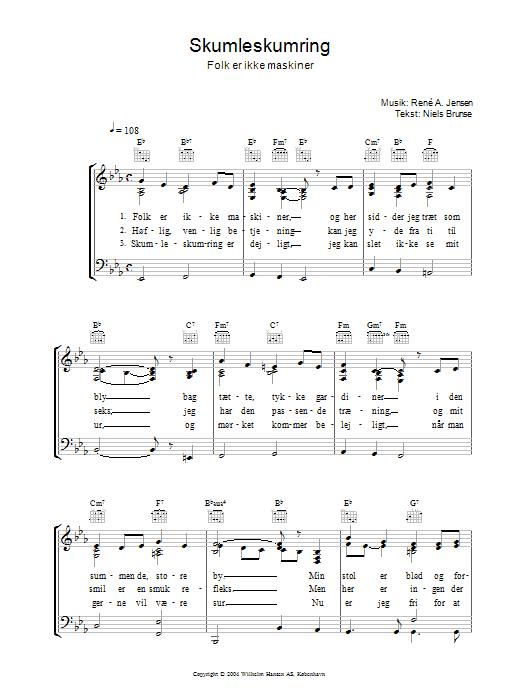 Skumleskumring (Piano, Vocal & Guitar)