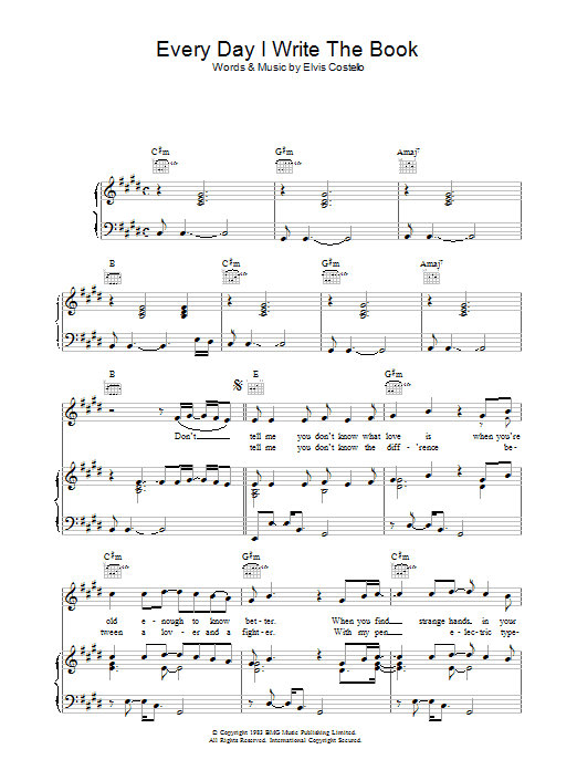 Every Day I Write The Book Sheet Music