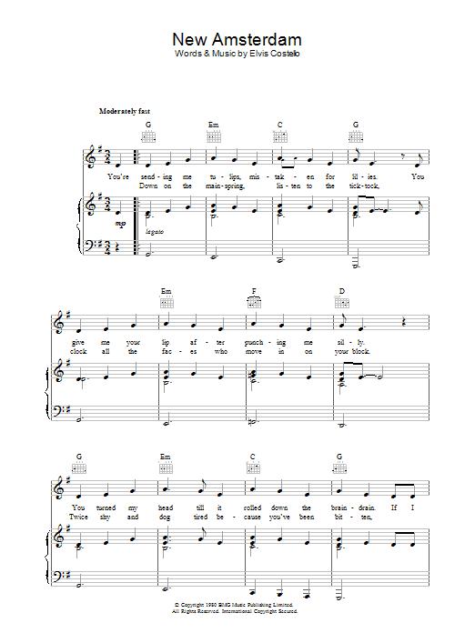 New Amsterdam Sheet Music