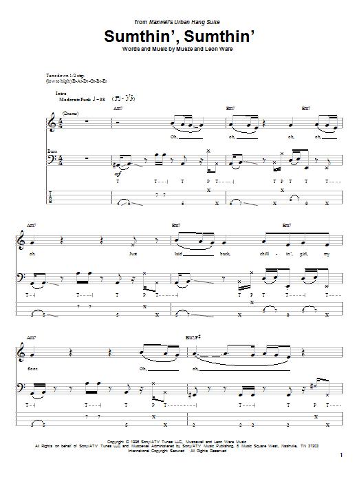 Sumthin', Sumthin' Sheet Music