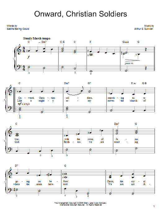 Onward, Christian Soldiers Sheet Music