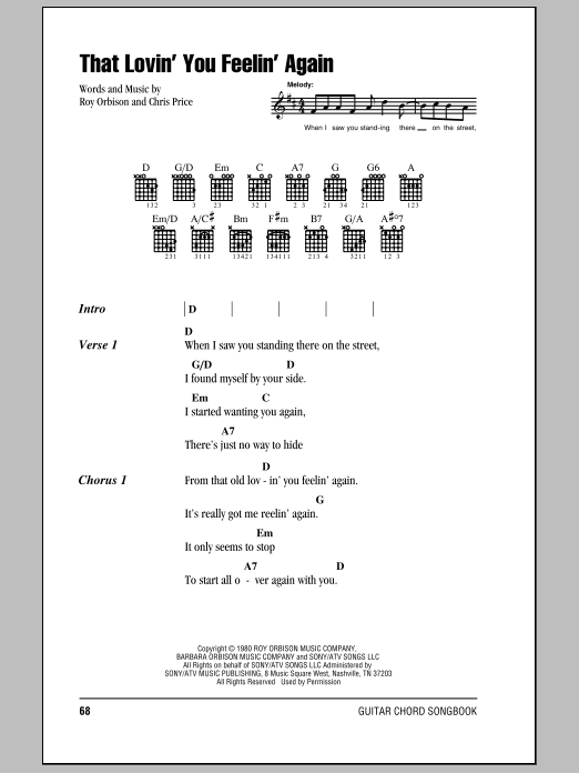 That Lovin' You Feelin' Again Sheet Music