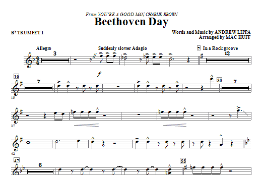 Beethoven Day - Trumpet 1 Sheet Music