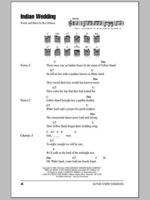 Indian Wedding (Guitar Chords/Lyrics)