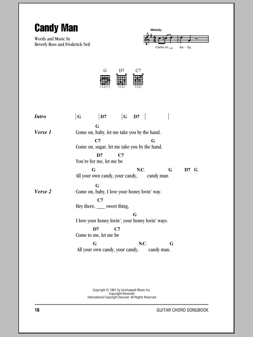 Candy Man Sheet Music