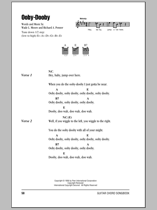 Ooby-Dooby Sheet Music