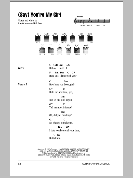 Say) You\'re My Girl | Sheet Music Direct