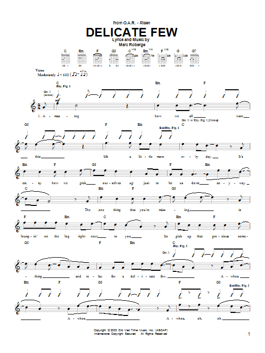 Delicate Few Sheet Music